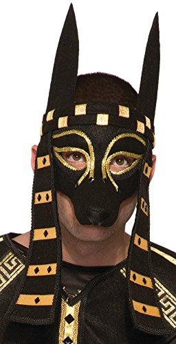Anubis Adult Costumes (Mystical Creature Anubis Mask Men's Costume Accessory Black Dog Egyptian Roman)
