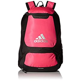 adidas Stadium Team Backpack 39 Lifetime warranty - built to last. Front pocket is built with FreshPAK ventilation for your cleats and sneakers. Hydroshield water-resistant base, extra durable 3d ripstop fabric, and space for your team branding.