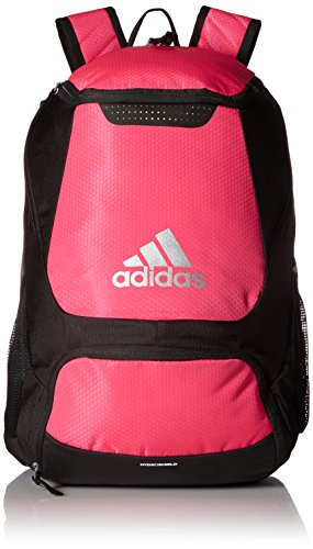 adidas Stadium Team Backpack 1 Lifetime warranty - built to last. Front pocket is built with FreshPAK ventilation for your cleats and sneakers. Hydroshield water-resistant base, extra durable 3d ripstop fabric, and space for your team branding.