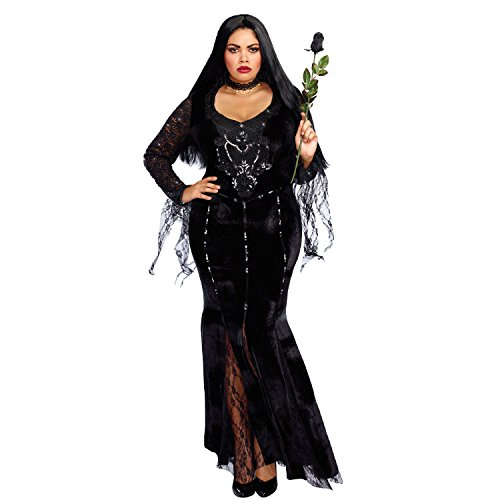 Dreamgirl Women's Frightfully Beautiful Plus Size, Black, 3X -