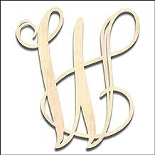 """Back40Life Laser Cut Vine Monogram Letter - 6-inch unfinished """"W"""""""