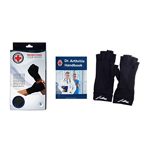 Doctor Developed Copper Arthritis Gloves/Compression Gloves and DOCTOR WRITTEN HANDBOOK -Relieve Arthritis Symptoms, Raynauds Disease & Carpal Tunnel (M) by Dr. Arthritis (Image #2)