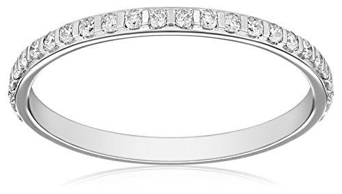 Kobelli 2/5 cttw Round-Cut Diamond 14k White Gold Eternity Band, Size 6