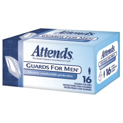 MCK40003101 - Bladder Control Pad Attends Guards For Men Light Absorbency Polymer Male Disposable