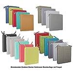 Brandsseller-Cuscino-per-sedia-da-giardino-con-bordo-effetto-lino-tinta-unita-resistente-allo-sporco-e-impermeabile-con-lacci-di-fissaggio-40-x-40-x-4-cm-confezione-conveniente-grigio