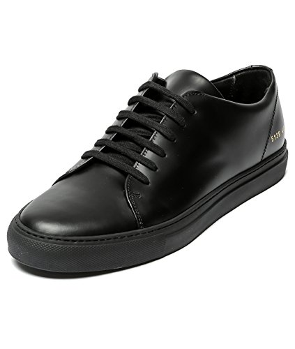 wiberlux-common-projects-mens-real-leather-low-top-sneakers-42-black