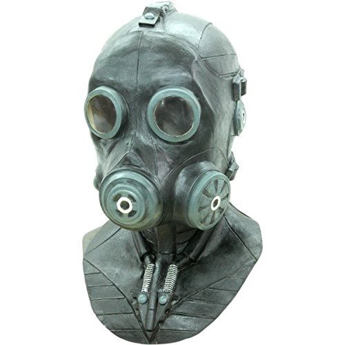 (Deluxe Full Face Smoke Gas Mask Latex Costume Mask Adult)