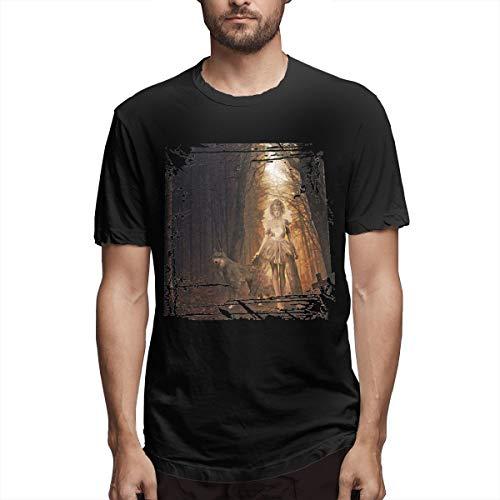 SPENCER Halloween Girl Printing Novelty Men's T-Shirt Tee Black -