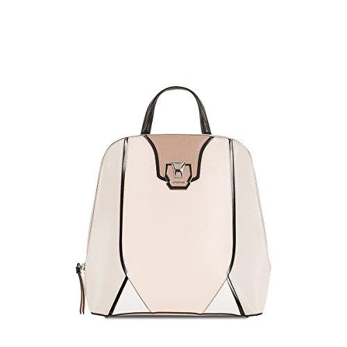 Croma - Bolso mochila de Piel para mujer rosa Rosa