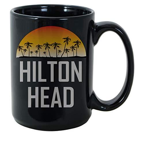 SAYOMEN Hilton Head SC Sunset And Palm Trees Beach MUG 11oz- Ceramic coffee mug, Gift for Men or Women, Funny Mug, Wedding Gift Idea, Christmas, Birthday, Valentines, Mother's Day -]()
