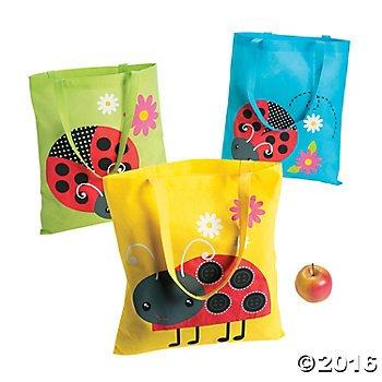 Ladybug Tote Bags - 12 ct -