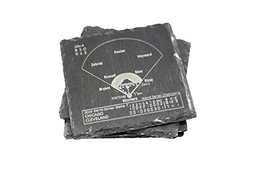Cubs 2016 World Series - Slate Coasters (Set of 4)