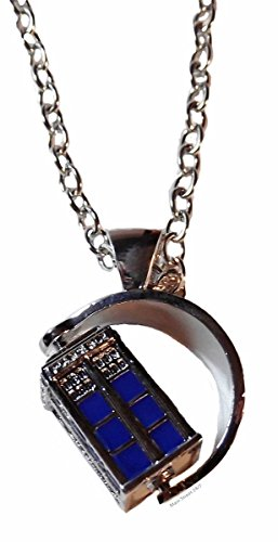 Doctor Who TV SPINNING 3D TARDIS Police Box Pendant NECKLACE ()