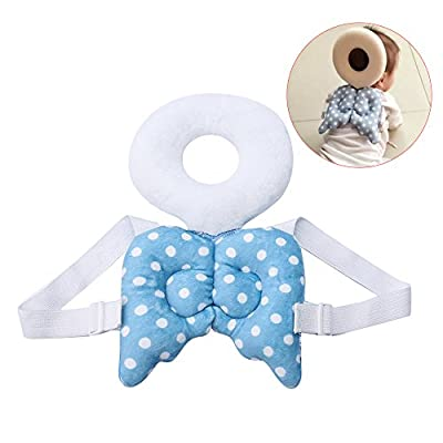 Zinnor Multi-Functional Baby Head Protective - Angel Wings Toddlers Headrest For Baby Walkers Protective Head and Shoulder Protector Prevent Head Injured