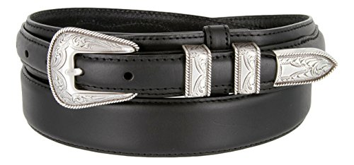 oil-tanned-western-ranger-leather-belt-with-silver-finish-rope-design-buckle-set