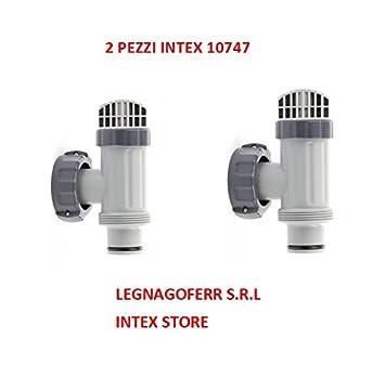Legnagoferr - Intex 10747 - 2 x Válvulas de paso anular de conexión para bomba para arena, versión 2017, universal Intex/Bestway, recambio: Amazon.es: ...
