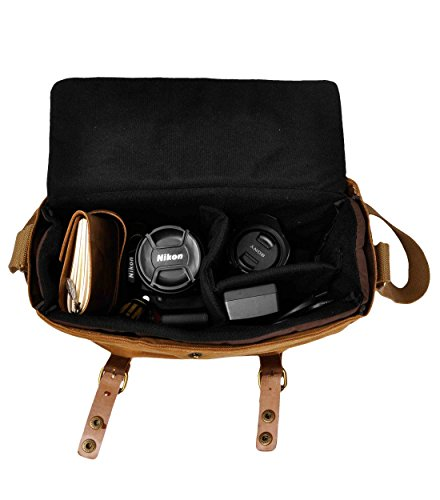 d5f778cc081 ZLYC Canvas Camera Bag Vintage Military DSLR SLR Messenger Bag with ...