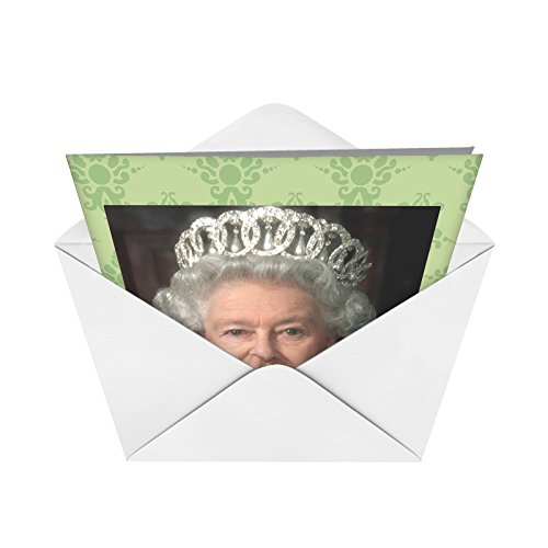 J8082 Jumbo Funny Birthday Card: Queen Picks Her Nose With Envelope (Extra Large Version: 8.5'' x 11'') Photo #4
