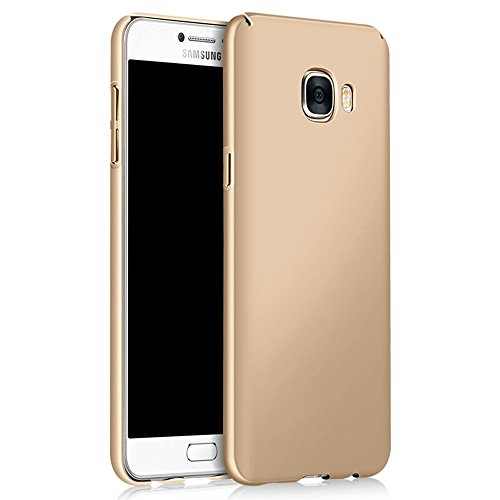 Galaxy S7 Case, Sincase [Non Slip] Ultra Thin Excellent Grip Samsung S7 Bumper [Scratch Resistant] Coated Hard PC Cover Skin for Samsung Galaxy S7, Gold