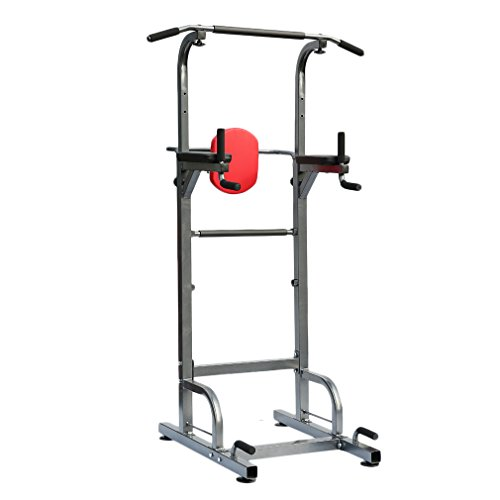 Homgrace Power Tower 500 lbs Dip Station Adjustable Height for Home Gym