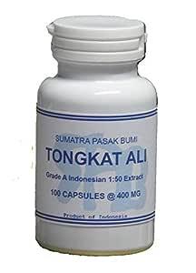Tongkatali.org's 1:50 Indonesian Tongkat Ali Extract 100 Capsules 400 mg