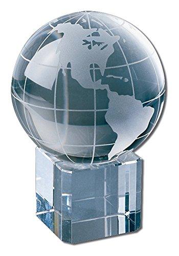 Award Crystal Globe - 3