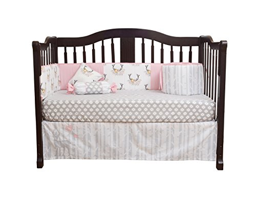 GEENNY infants Girl Deer household 13 Piece Nursery Crib Bedding Set