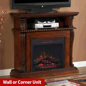 Amazoncom ClassicFlame Corinth Infrared Electric Fireplace Media