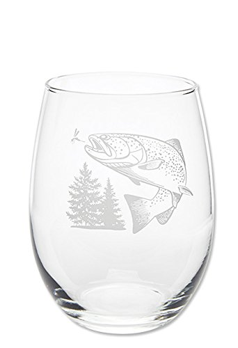 Orvis Jumping Trout Glasses, Wine - Jumping Trout