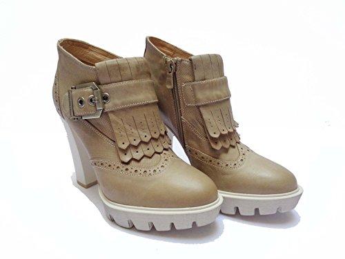 Mujer Vestir De Zapatos Beige Para Piel Nero 38 Champán Giardini BOq4FxY