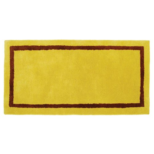 Minuteman International Mustard Contemporary Wool Hearth Rug (Rectangular)