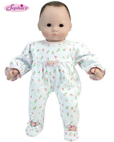 Sophia's 15 Inch Baby Doll Pajamas, Floral Print Doll Sleeper Perfect for Bedtime Fits American Girl Bitty Baby 15 Inch Baby Doll & More! 15 Inch Floral Print Sleeper | ()