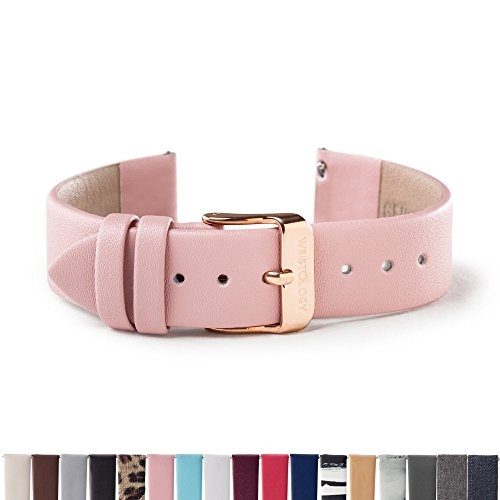 WRISTOLOGY Rose Gold 18mm Womens Easy Interchangeable Watch Band (Pink)