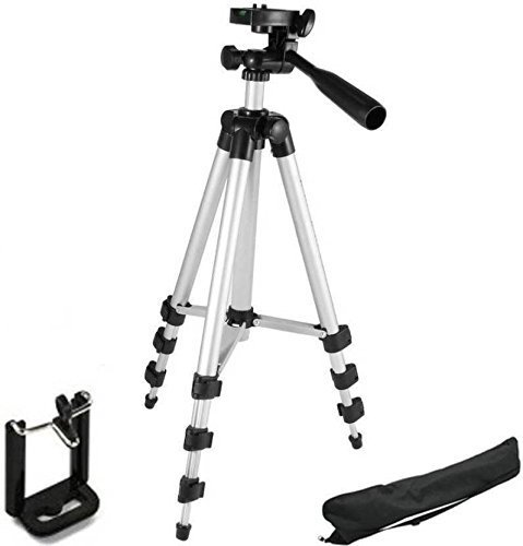 EVERNEST Lightweight 3110 Tripod for DV Cameras and Smartphone | Max Operating Height – 6 Feet | Load Capacity 5 Kg | Lightweight & Sturdy Tripod with Adjustable 3 Way Pan Head