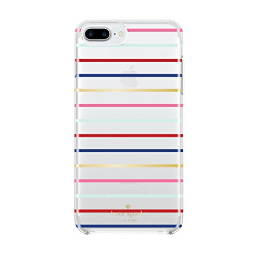 kate spade new york Protective Hardshell Case for iPhone 8 Plus - also compatible with iPhone 7 Plus - Surprise Stripe Gold / -