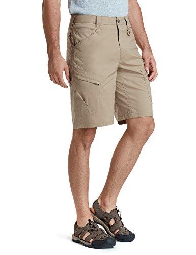 CQR Men's Tactical Lightweight Utiliy EDC Cargo Work Uniform Shorts, Urban Driflex(txs410) - Khaki, 38