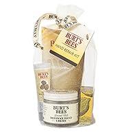 Juego de regalo de reparación de manos Burt's Bees, 3 cremas para manos más guantes - Crema de manos de leche de almendra, crema de cutícula de mantequilla de limón, crema de reparación de manos de mantequilla de karité