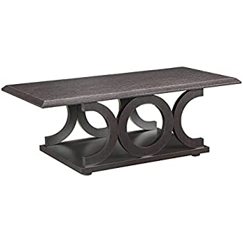 Amazon Com Coaster Home Furnishings 701868 Casual Coffee Table Cappuccino Kitchen Amp Dining