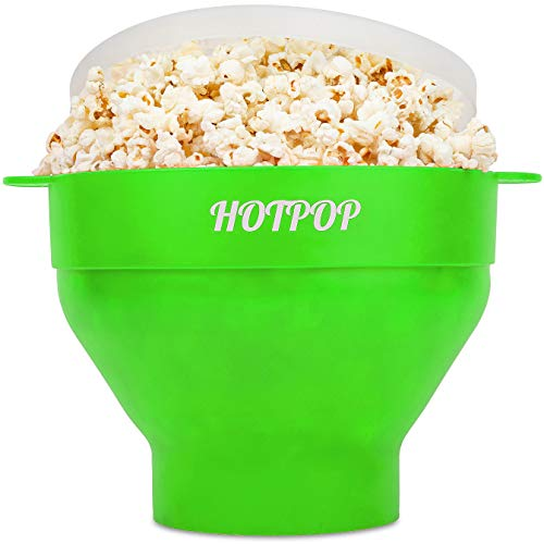 The Original Hotpop Microwave Popcorn Popper, Silicone Popcorn Maker, Collapsible Bowl Bpa Free and Dishwasher Safe- 17…