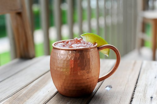 12 PACK Alchemade Copper Barrel Mug for Moscow Mules - 16 oz - 100% Pure Hammered Copper - Heavy Gauge by Alchemade (Image #3)