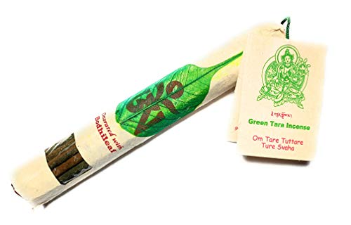 - Tibetan and Nepalese Green Tara Incense to Relieve Meditation Feeling of Tranquility