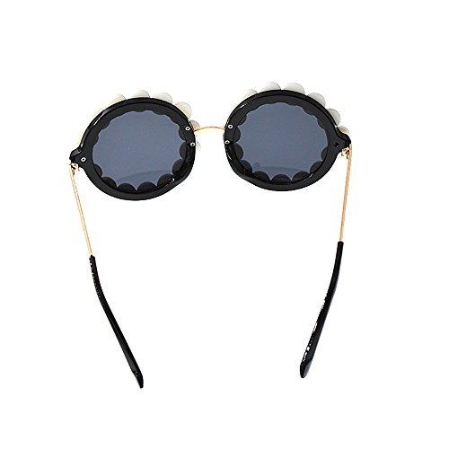 Ligero Mujeres de polarizadas Gafas Mujer Gafas de Baroque Style Redondas Sol Wenjack de para Pearl Las de Graceful Sol Sol de Beach Show Fashion Sol Gafas Personalidad Gafas Ultra Tq8WBw7Iw5