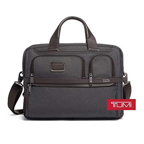 (TUMI - Alpha 3 Expandable Organizer Laptop Brief Briefcase - 15 Inch Computer Bag for Men and Women - Anthracite)