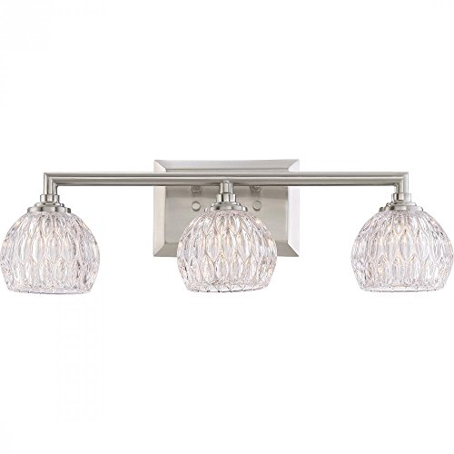 Quoizel Platinum Collection Serena PCSA8603BN 3 Light Bathroom Vanity Light