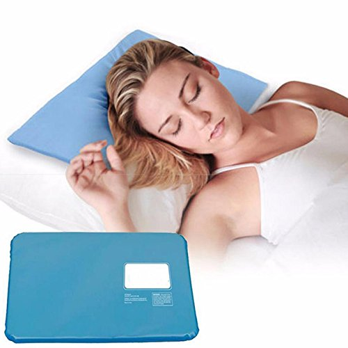 Portable Traveling Cooling Pillow Mat,Relaxing Sleeping Cold Ice Pad Cushion for Reduces Migraines Hot Flashes and Fevers by Aoile