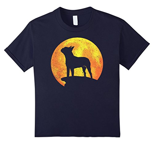 Kids BOSTON TERRIER Dog Orange Halloween Costume Vintage T-shirt 12 Navy - Best Boston Terrier Halloween Costumes