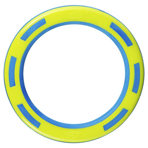Nerf Dog 9in TPR/Foam Ring: Blue/Green, Dog Toy
