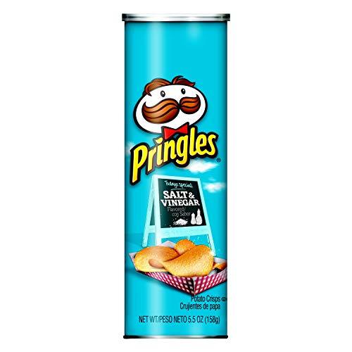 - Pringles Potato Crisps Chips, Salt and Vinegar Flavored, 5.5 oz Can