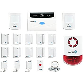 Fortress Security Store (TM) S02 C Wireless Home Security Alarm System Pet  Immune DIY Kit With Auto Dial + Outdoor Strobe Alarm