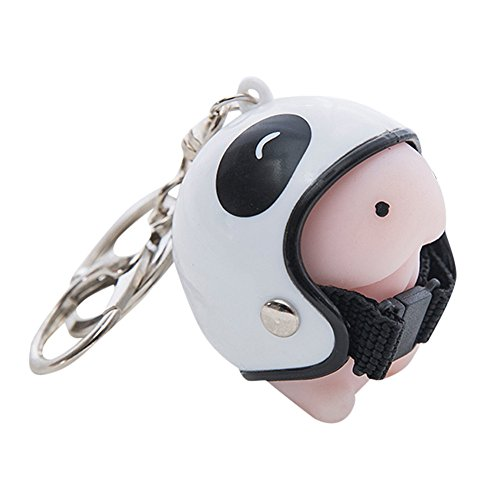 FEDULK Dingding Helmet Toys Cute Keychain Squeeze Stress Reliever Novelty Funny Prank Crazy Toy(A, One -